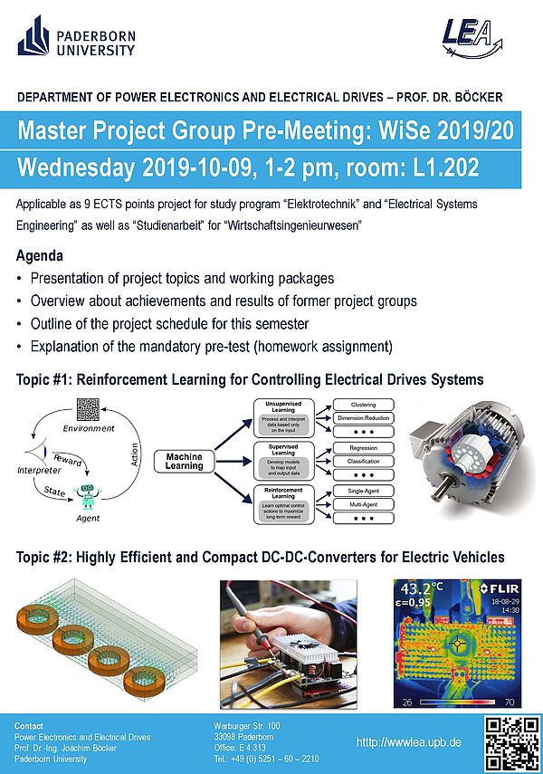 Master Project Group Announcement: Pre-Meeting